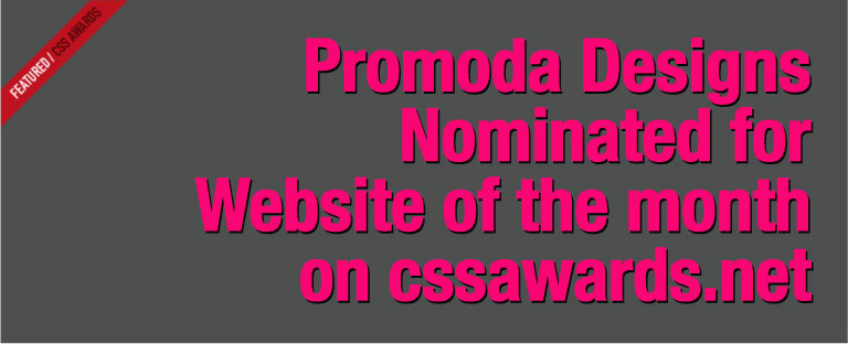 Promoda Site Of the Month!